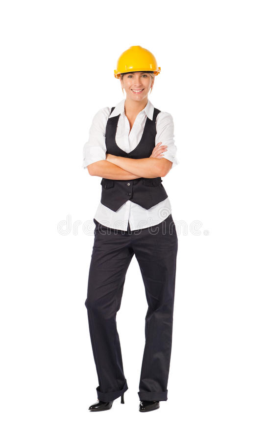 Construction businesswoman royalty free stock photography