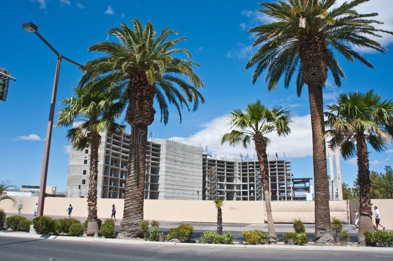 Construction calée sur la bande, Las Vegas photographie stock libre de droits