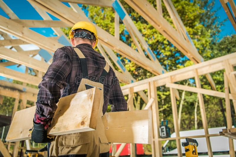 Construction Carpenter Worker royalty free stock images