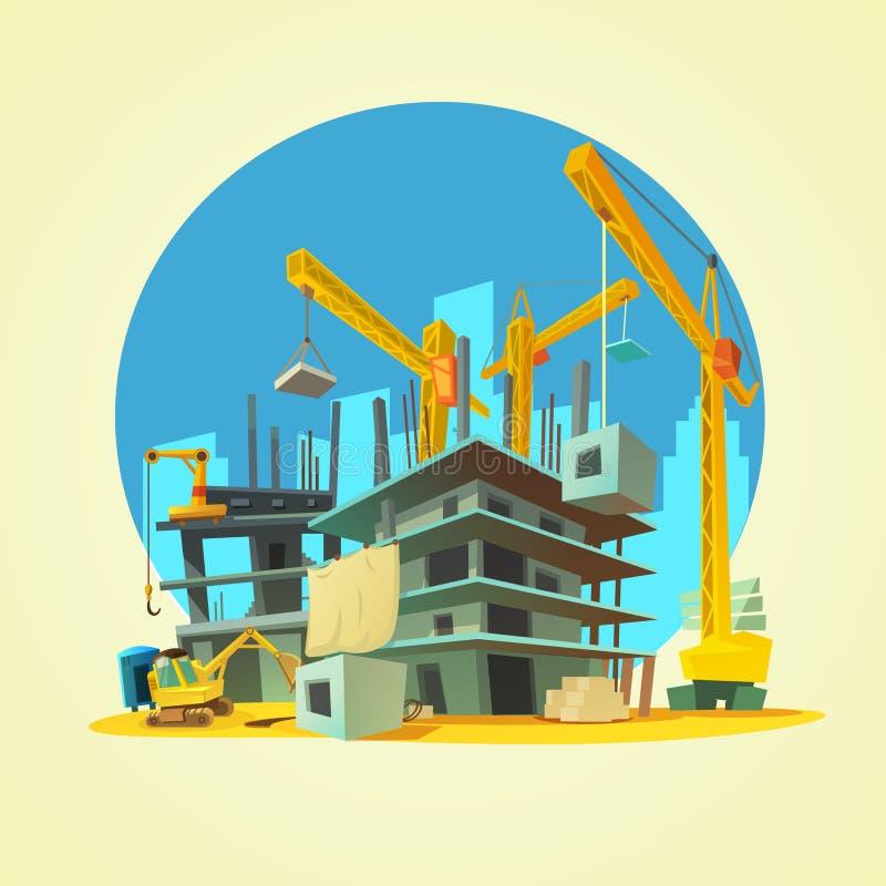 Building Construction Cartoon : Construction cartoon illustration stock vector