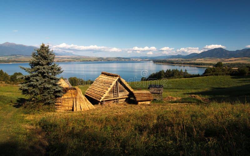 Construction celtique de règlement dans la localité archéologique photos stock