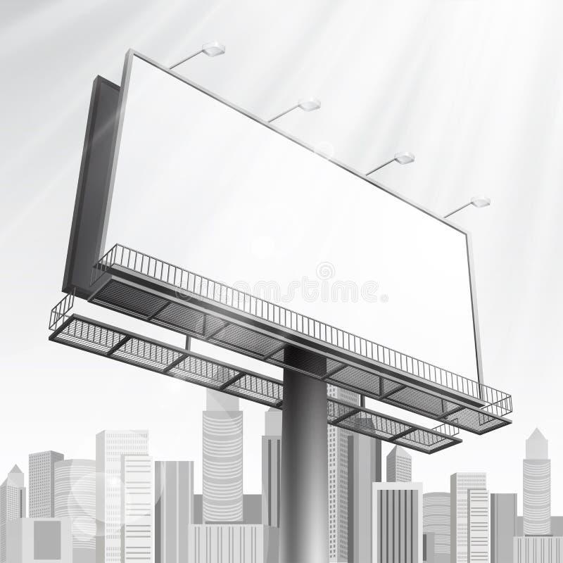 Construction On City Background Stock Photo