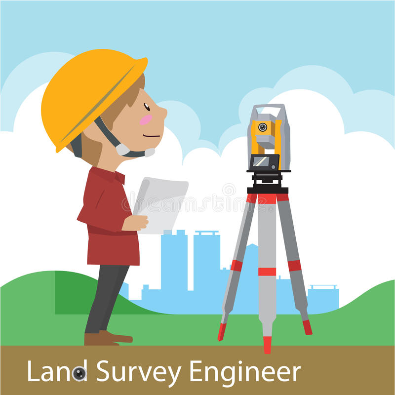 Construction and civil engineering vector royalty free illustration