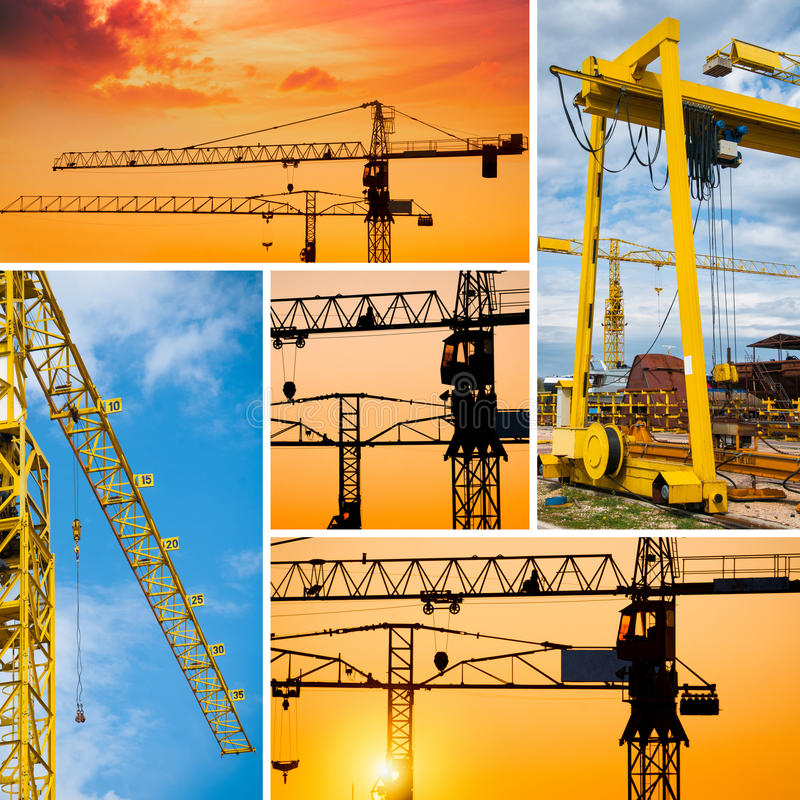 Construction collage. High definition photo stock image