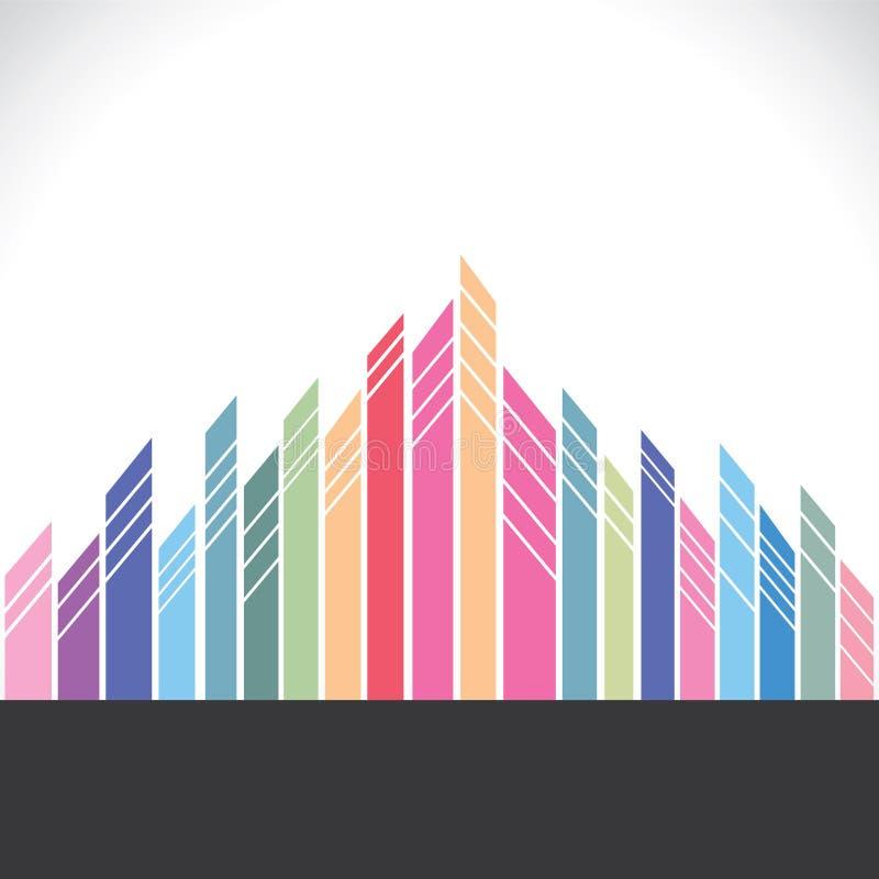 Construction colorée abstraite illustration de vecteur