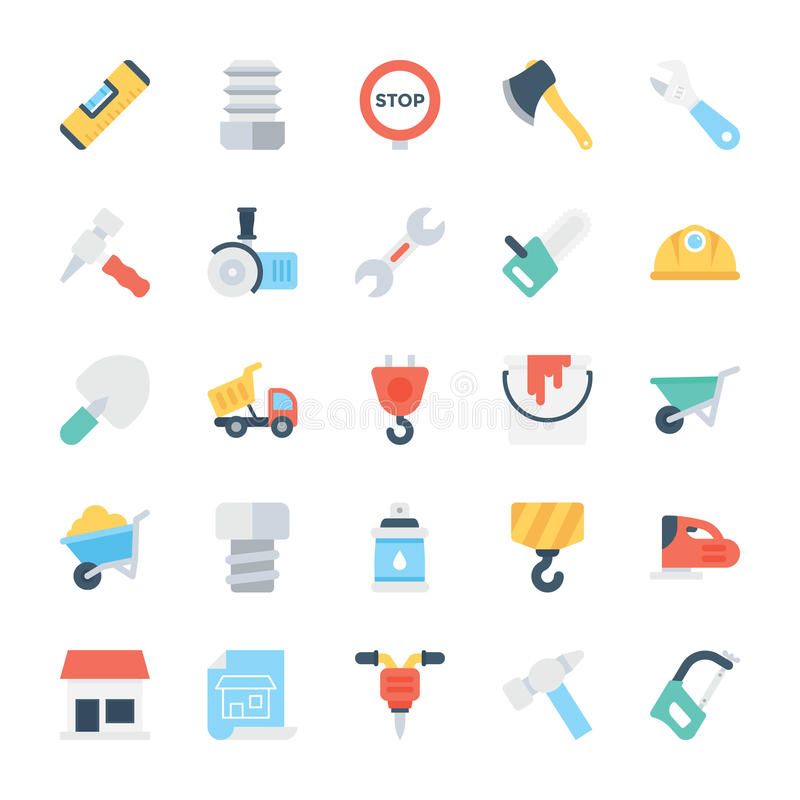Free Construction Colored Vector Icons 2 Stock Images - 84996784