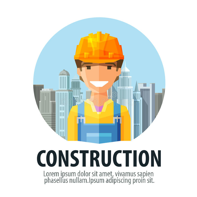 Dreams Construction Company: Construction Company Vector Logo Design Template Stock