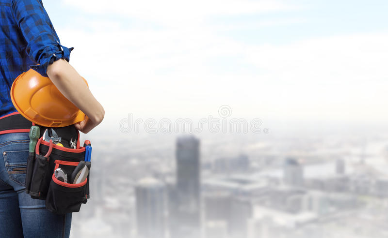 Download Construction concept stock photo. Image of girl, architect - 41890768