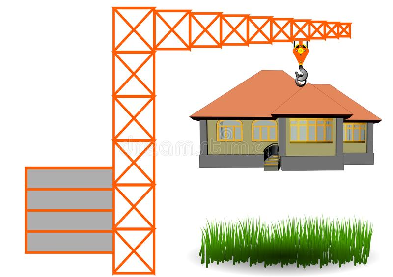 Construction concept isolated on white vector illustration