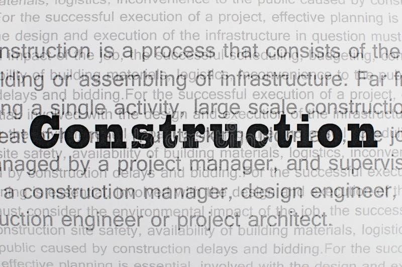 Construction conception text vector illustration