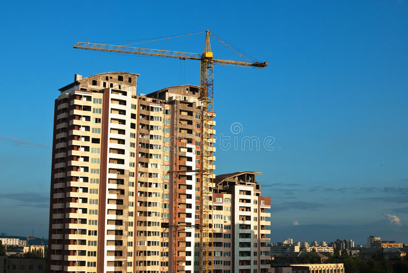 Download Construction of condos stock image. Image of heavy, industrial - 19865321