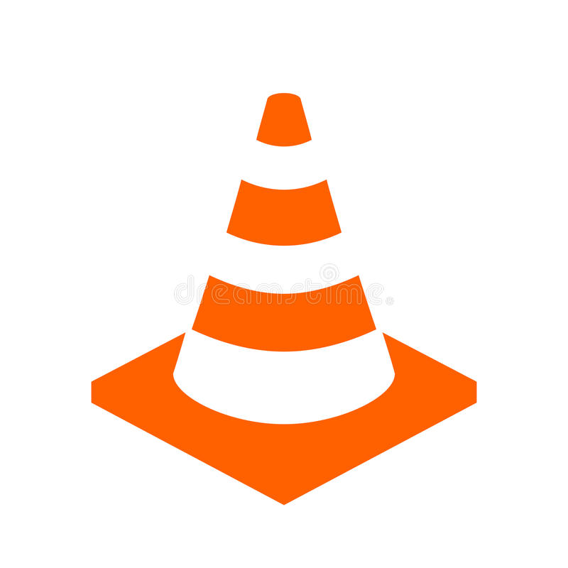 Construction cone vector icon. Illustration on white background royalty free illustration