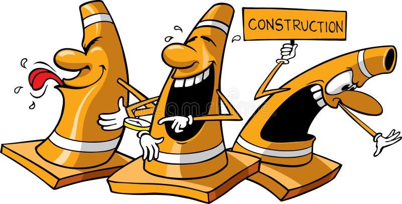 Construction cones stock illustration
