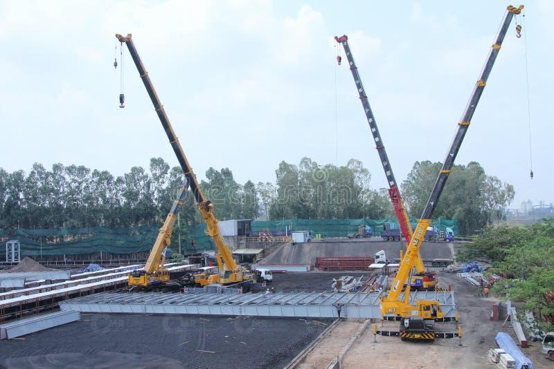 Construction, Construction Equipment, Crane, Vehicle royalty free stock photo