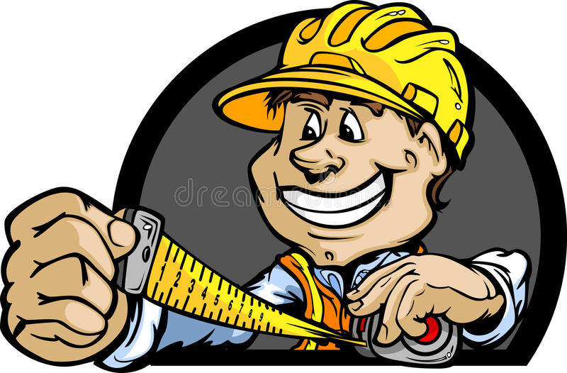 Download Construction Contractor With Tape Measure Stock Vector - Illustration of professional, designs: 25771505