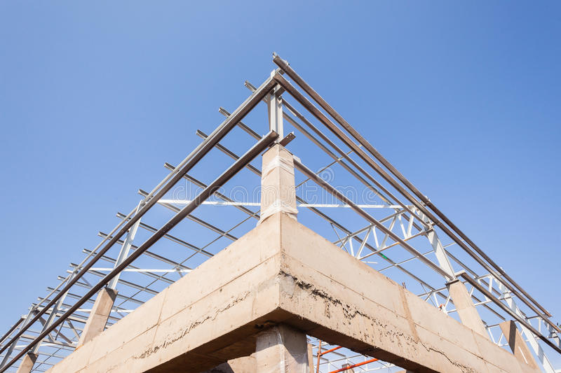 Construction Corner Building Factory royalty free stock images