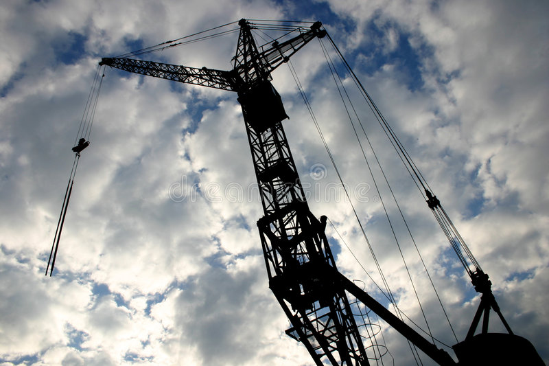 Download Construction crane [2] stock image. Image of working, metal - 36305