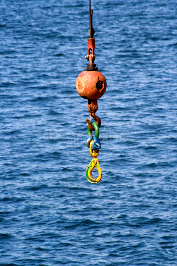 Free Construction Crane Hook And Wrecking Ball V1 Stock Images - 5069044