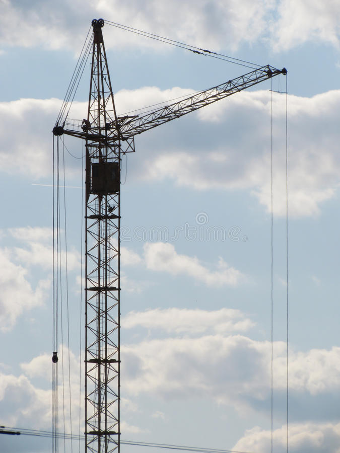 Free Construction Crane In The Sky. Royalty Free Stock Photos - 25158738