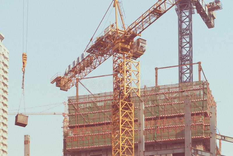 Construction, Crane, Structure, Tower stock photography