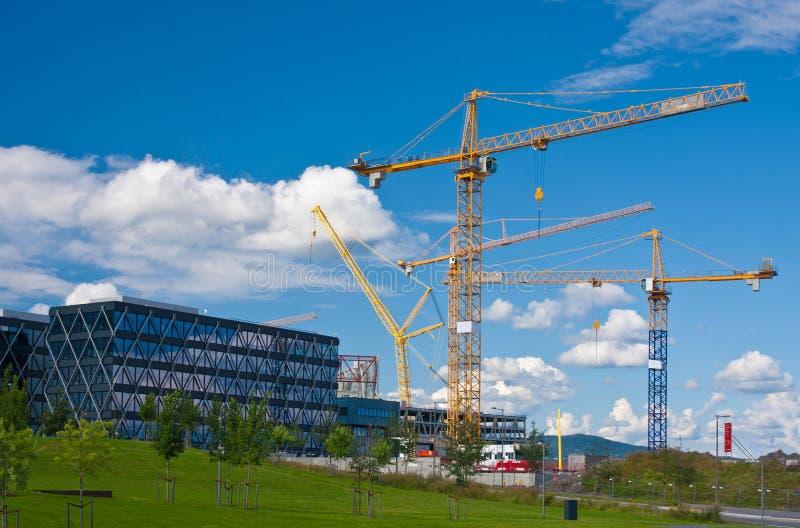 Construction cranes stock images
