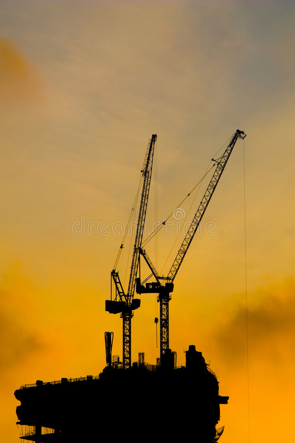 Construction Cranes Stock Image