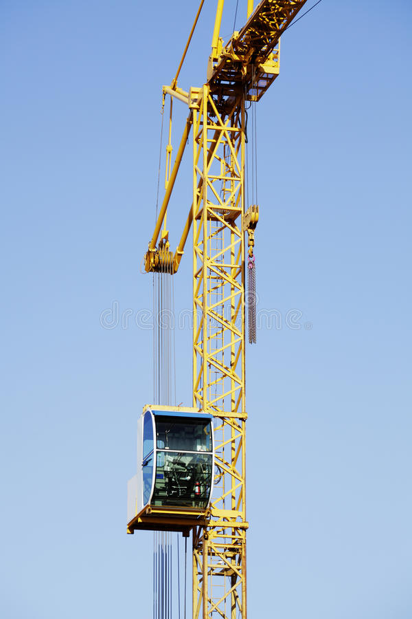 Construction -cranes Inside Building-site Royalty Free Stock Images