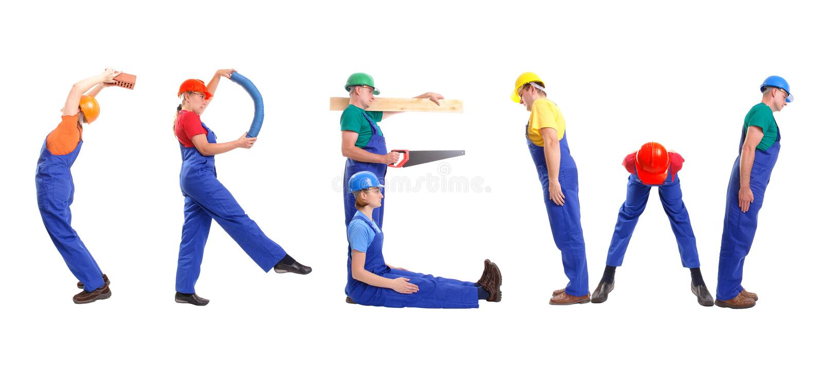 Construction crew royalty free stock images