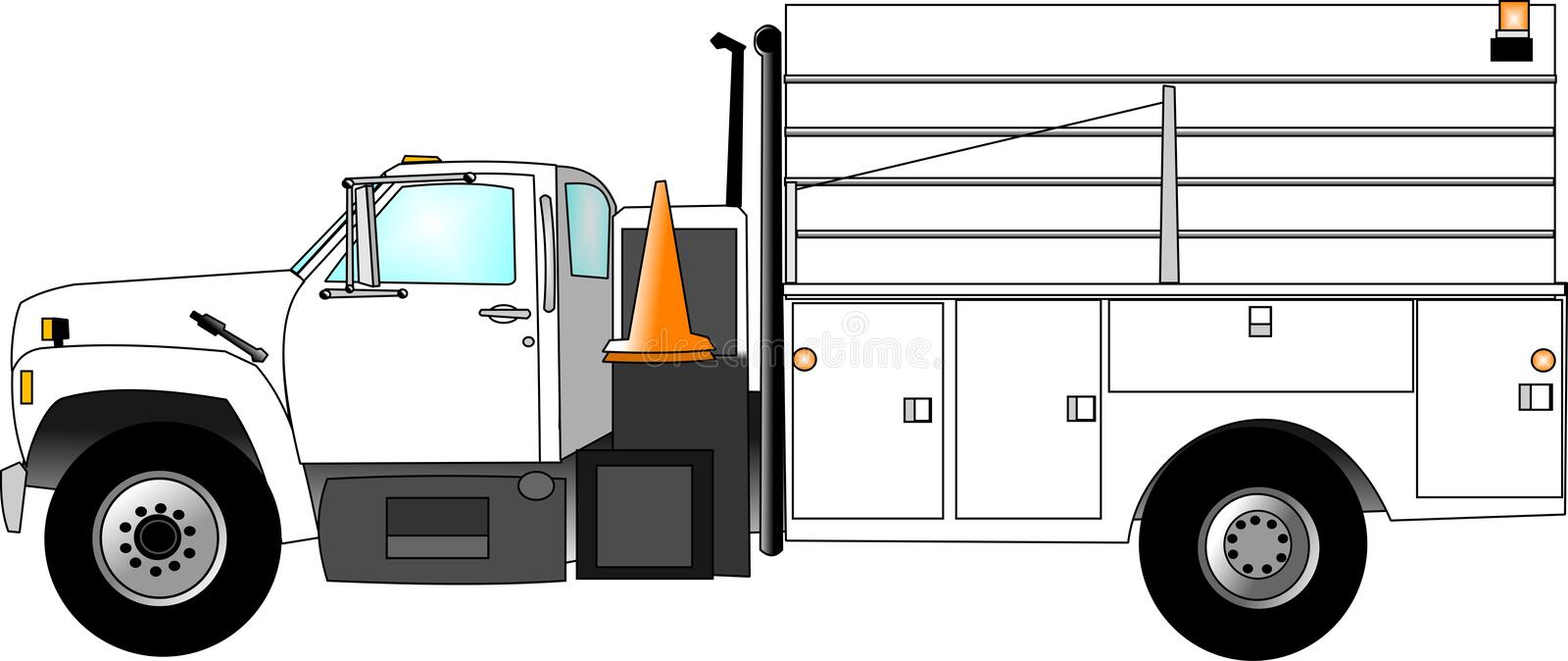 Download Construction Crew Truck stock illustration. Image of work - 45368
