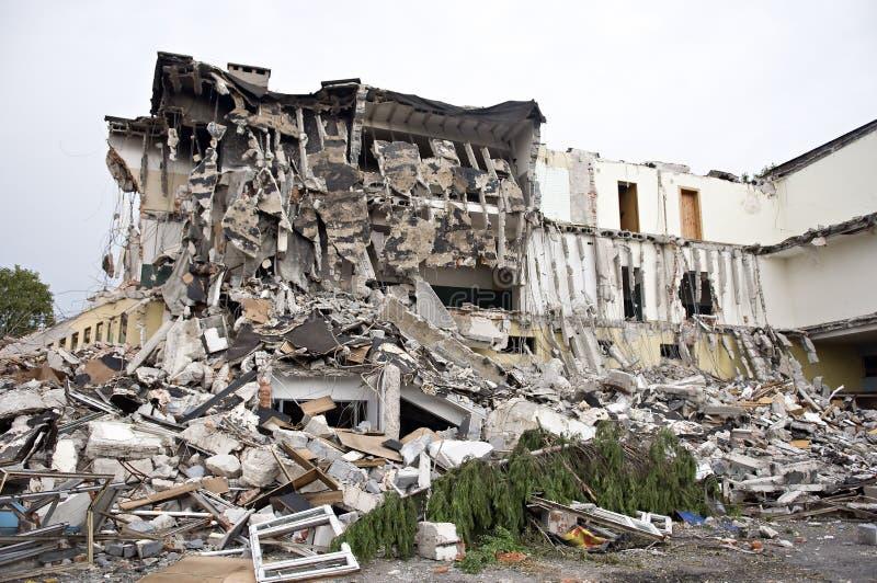 Construction détruite, saletés. Série photo libre de droits