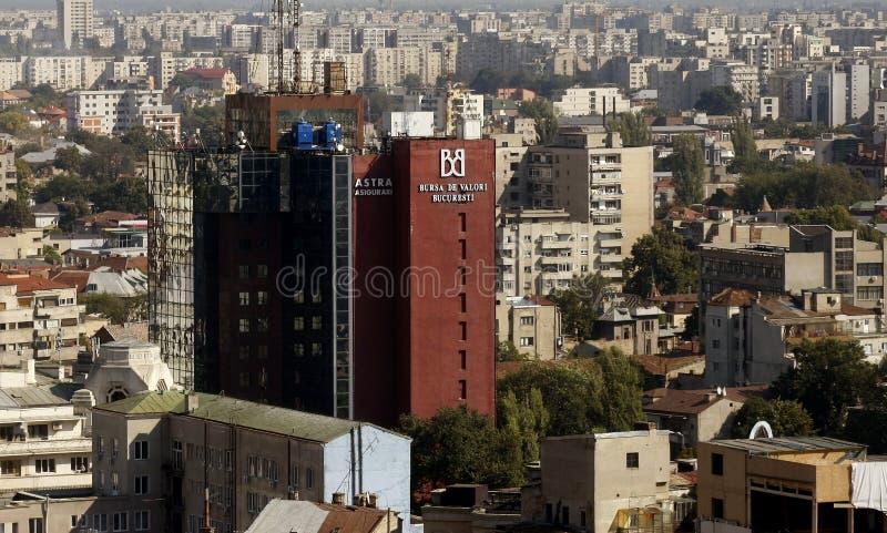 Construction d'échange courant de Bucarest photos libres de droits