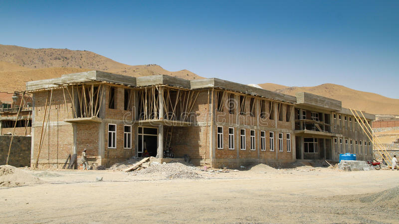 Construction d'école en Afghanistan image stock
