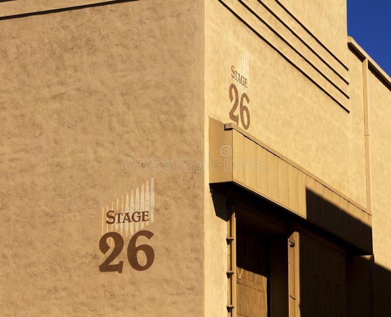 Construction d'étape de studio de film de Hollywood image stock