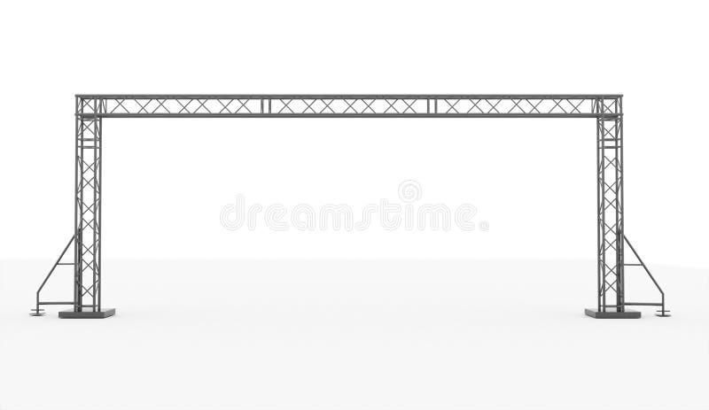 Construction d'étape rendue d'isolement photographie stock