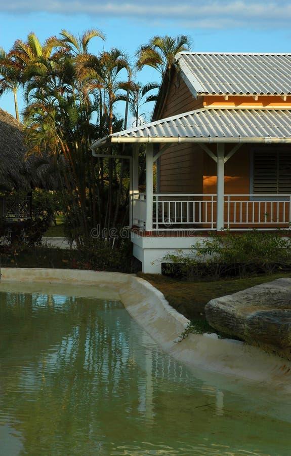 Download Construction d'île image stock. Image du arbres, paume, balcon - 88413