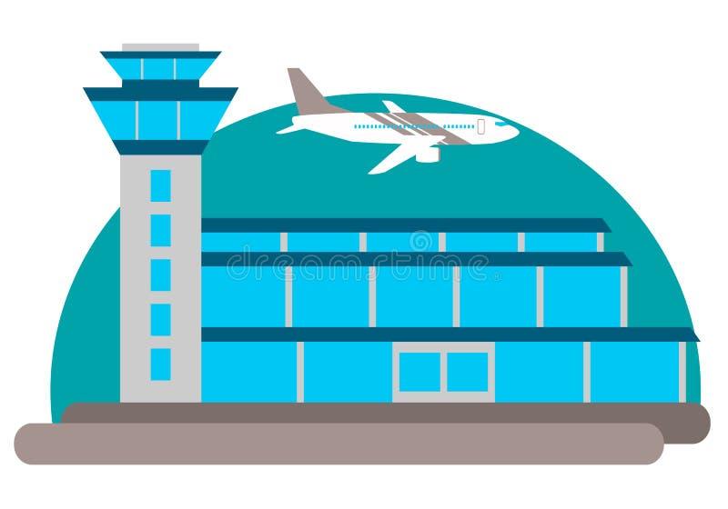 Construction d'aéroport illustration stock