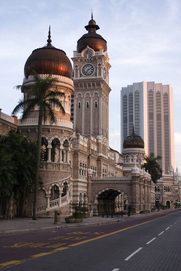 Construction d'Abdul Samad de sultan images libres de droits