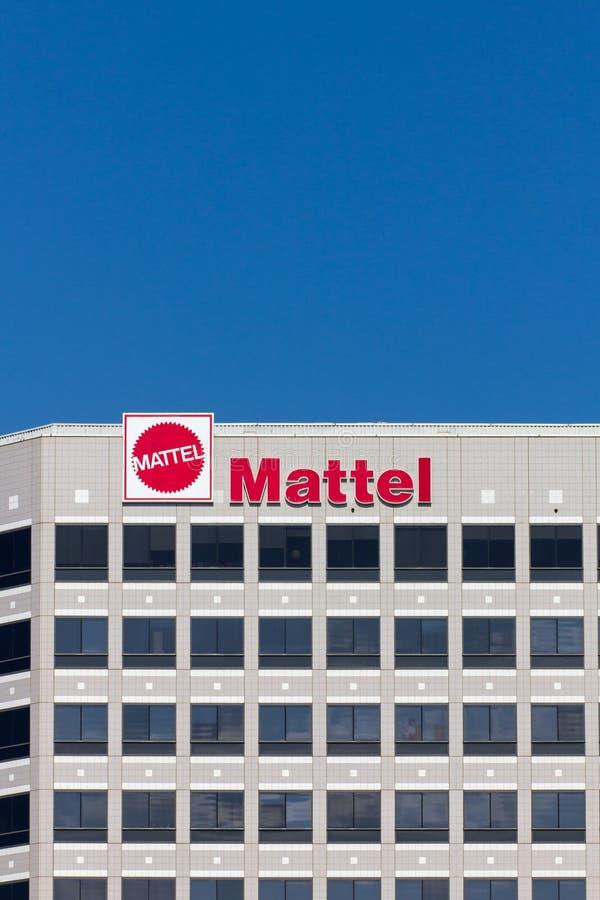 Construction d'entreprise de sièges sociaux de Mattel image libre de droits