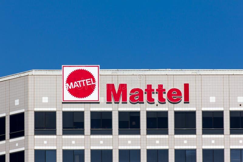 Construction d'entreprise de sièges sociaux de Mattel images libres de droits