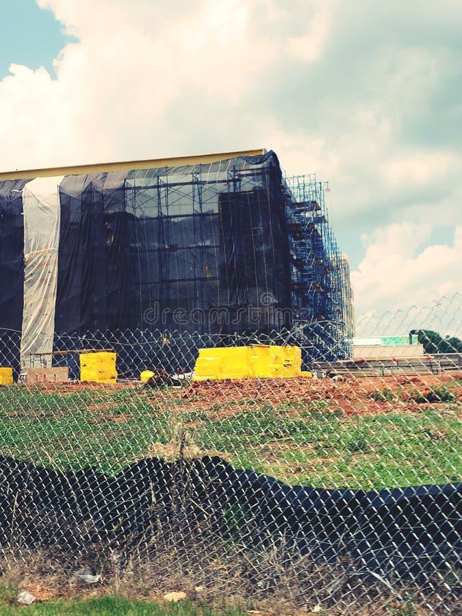Construction d'hôpital photographie stock