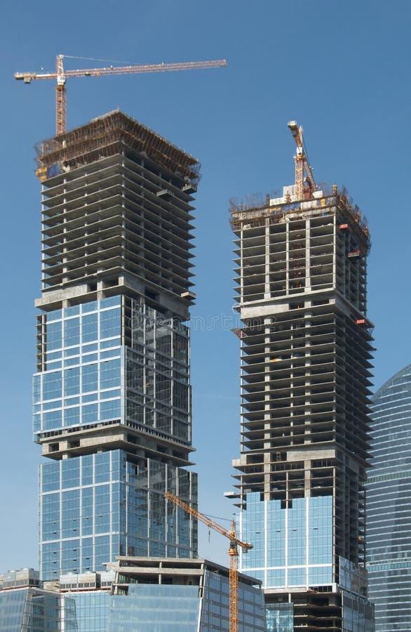 Construction d'immeubles de bureaux image stock