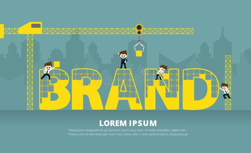 Construction d'Infographic de marque images libres de droits