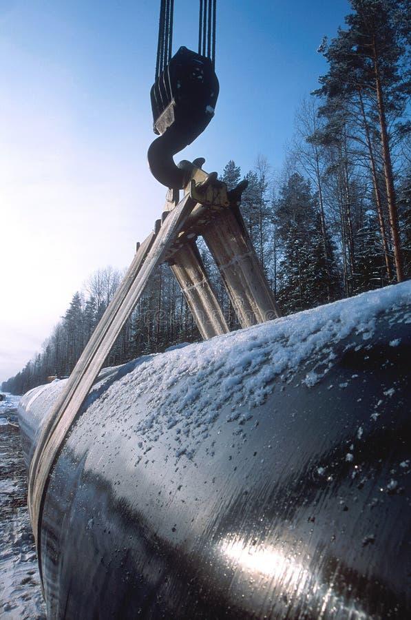 Construction d'un oléoduc neuf images stock