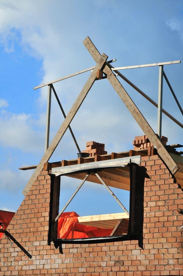 Construction d'une maison image libre de droits