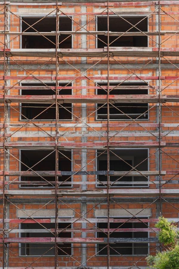 Construction d'une maison photos libres de droits