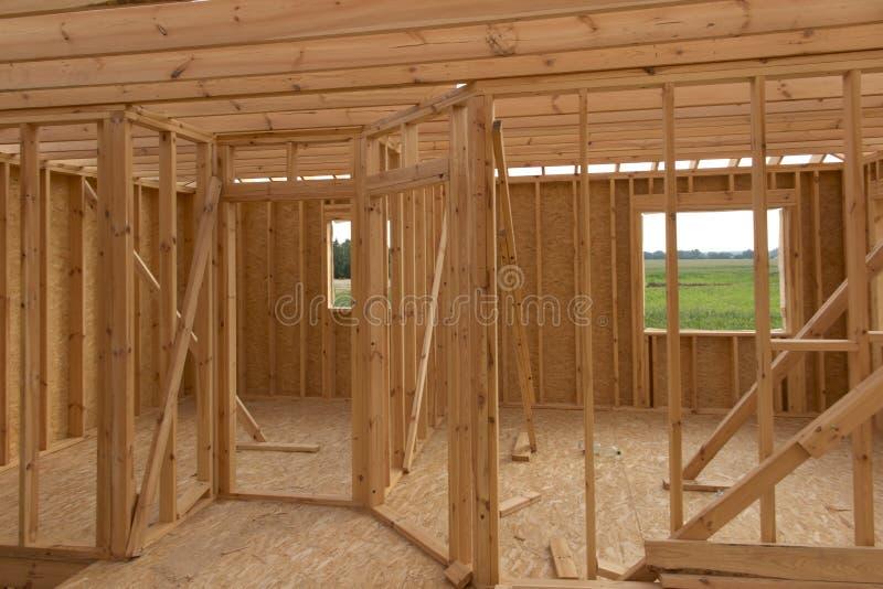 Construction d'une maison dans la technologie squelettique image libre de droits