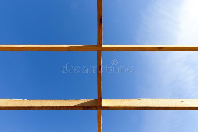 construction d'une nouvelle maison de cadre, photo libre de droits