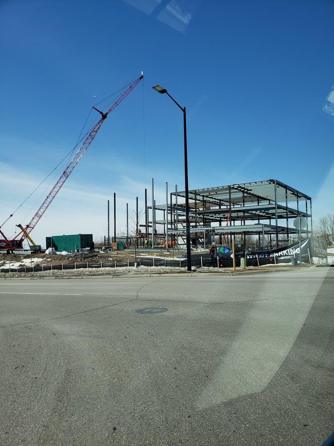 Construction d'une rampe se garante photo stock