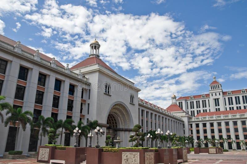 Construction d'université de supposition image libre de droits