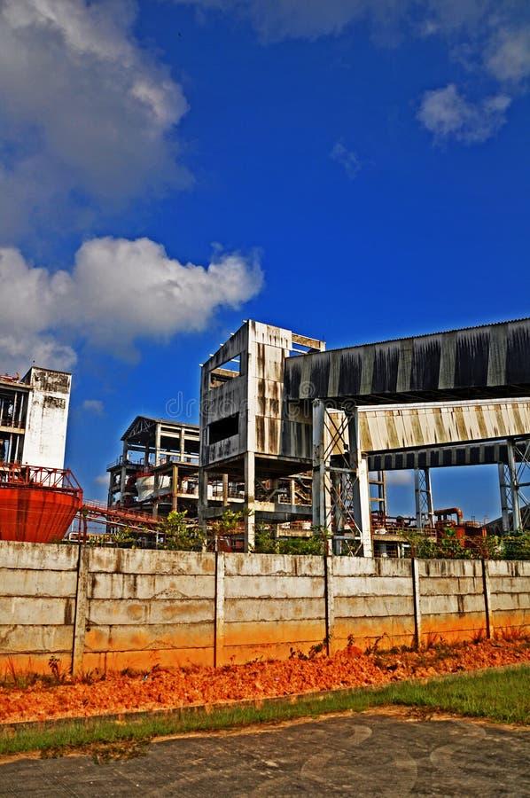 Construction dans le bleu photo libre de droits